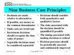 nine business case principles