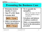 presenting the business case