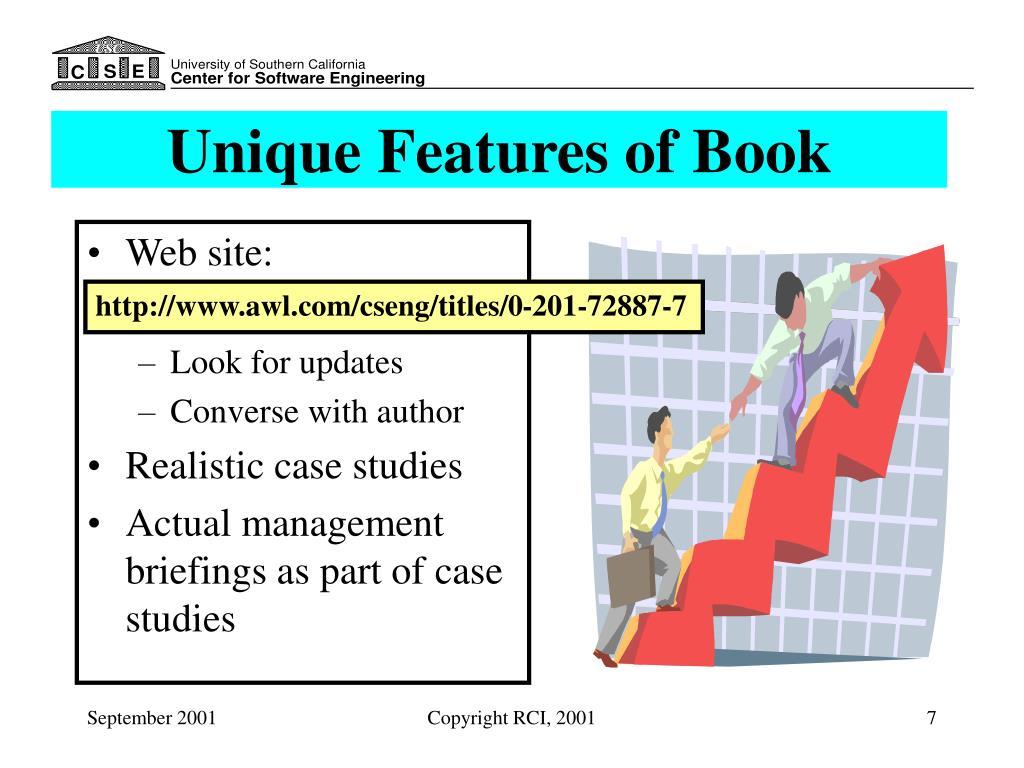 Unique Features of Book