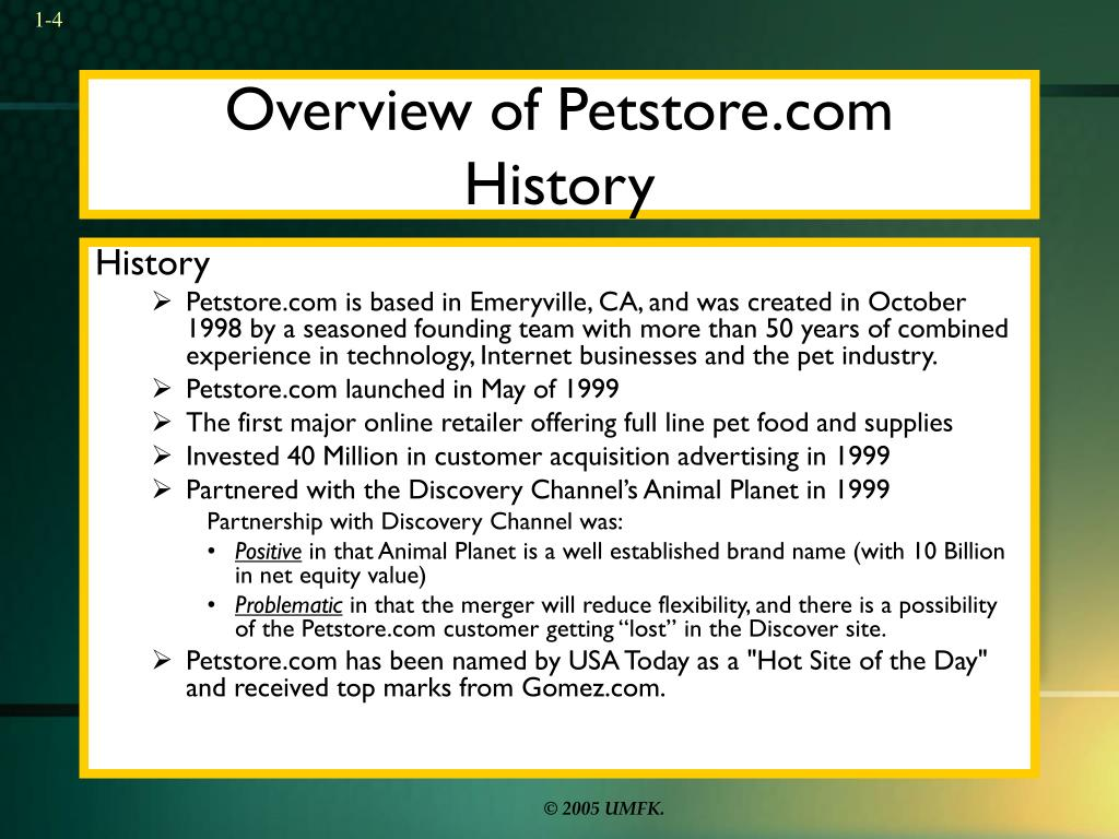 Overview of Petstore.com