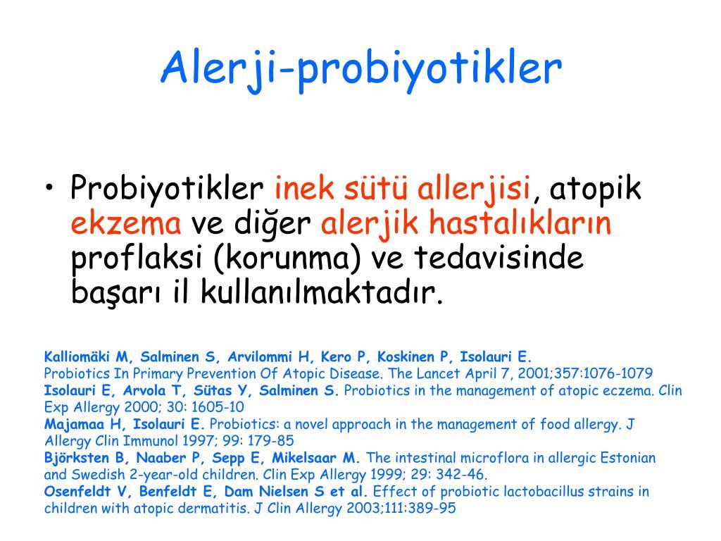 Alerji-probiyotikler