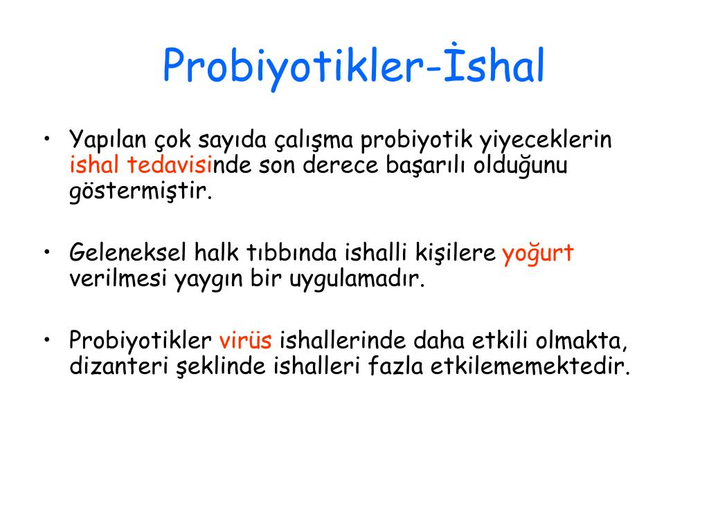 Probiyotikler-İshal