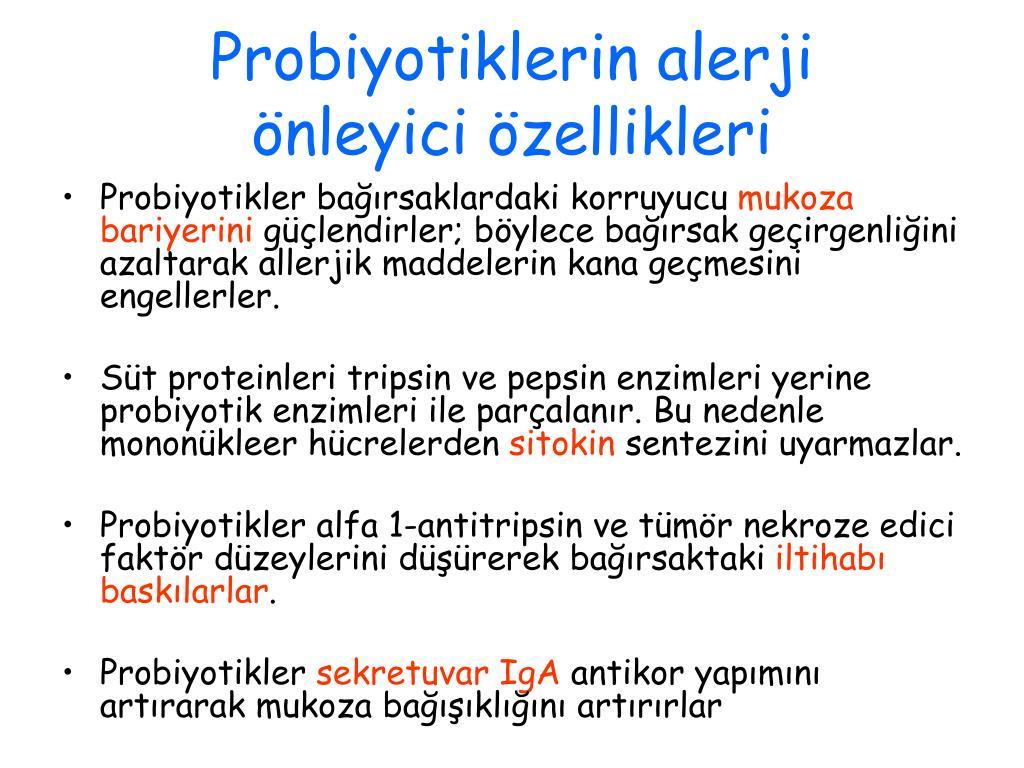 Probiyotiklerin alerji