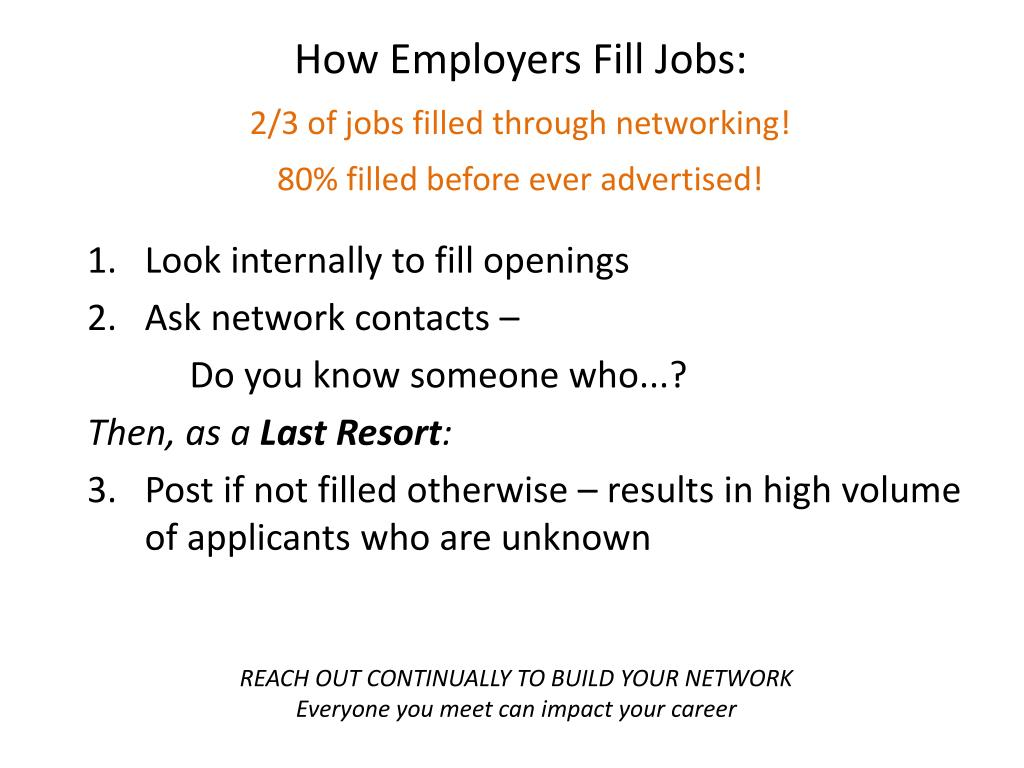 How Employers Fill Jobs: