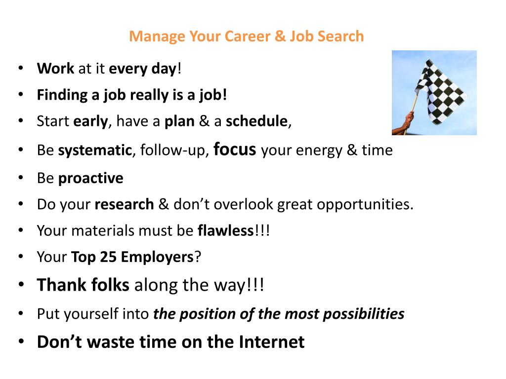 Manage Your Career & Job Search