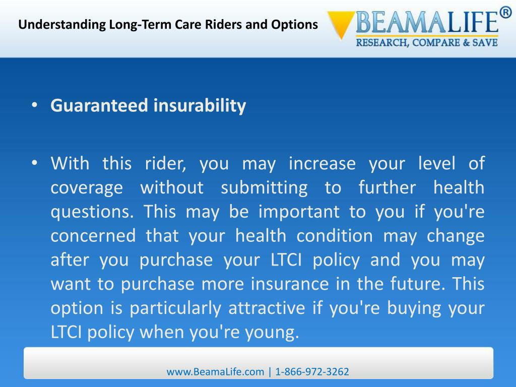 Understanding Long-Term Care Riders and Options
