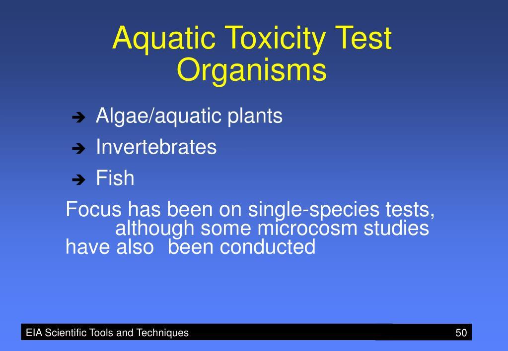 Aquatic Toxicity Test Organisms