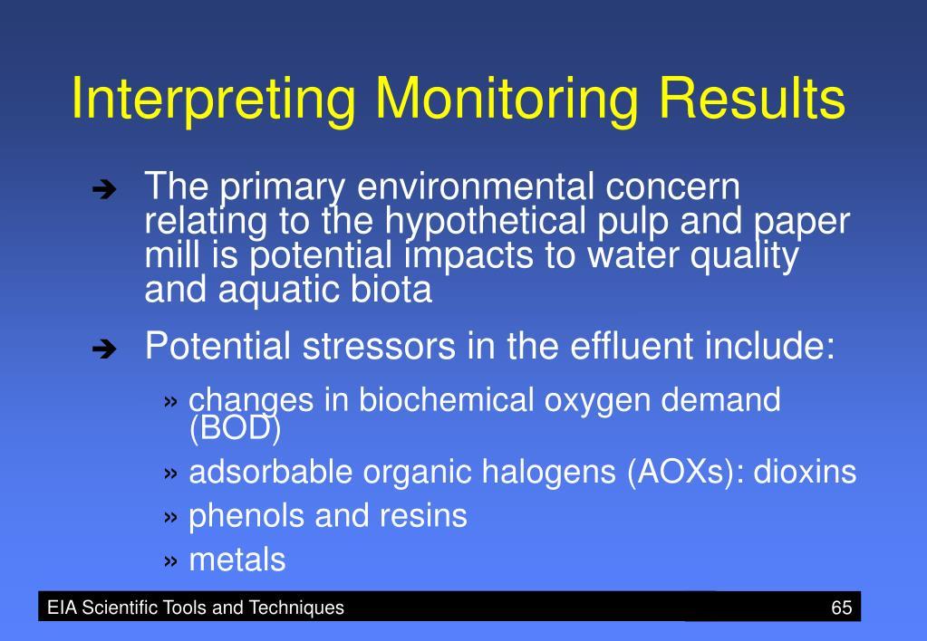 Interpreting Monitoring Results