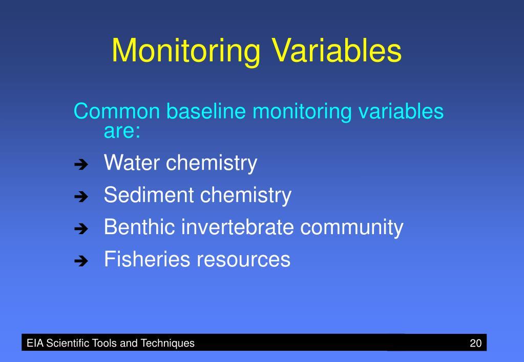 Monitoring Variables