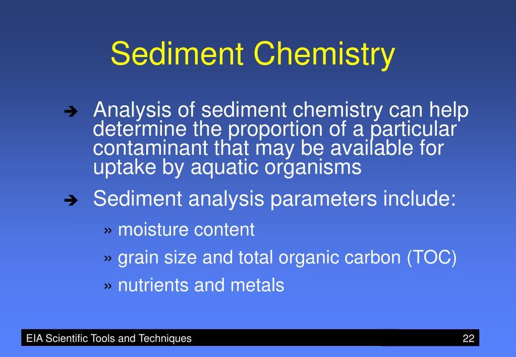 Sediment Chemistry