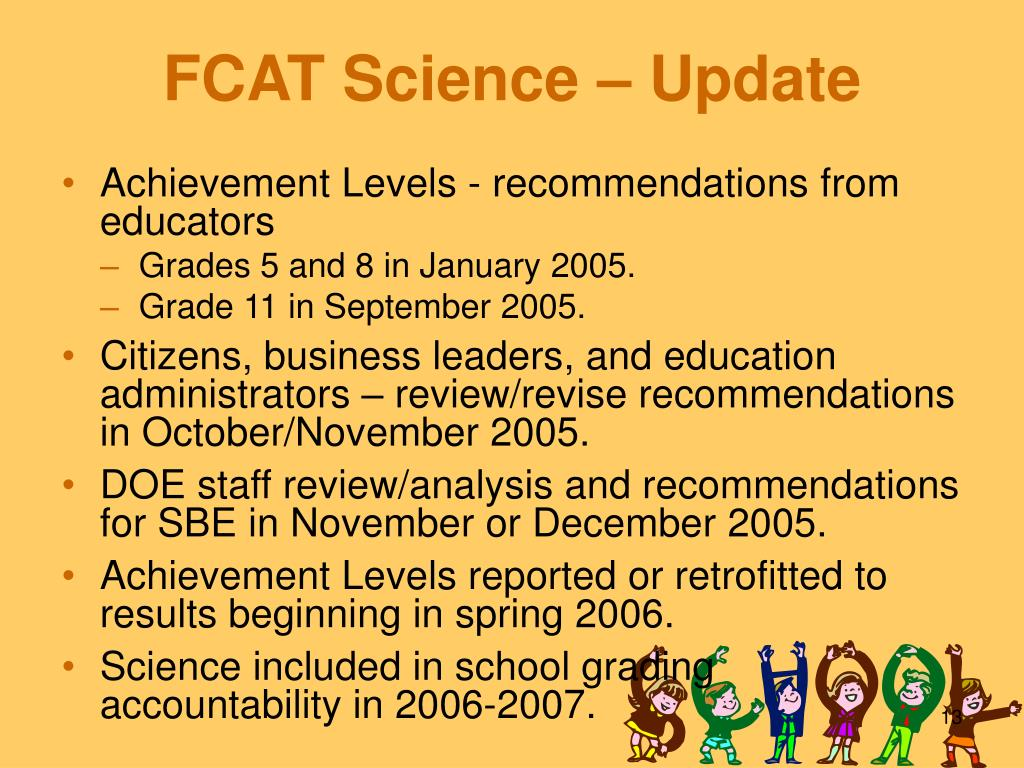 FCAT Science – Update