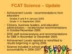 fcat science update