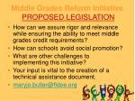 middle grades reform initiative proposed legislation14