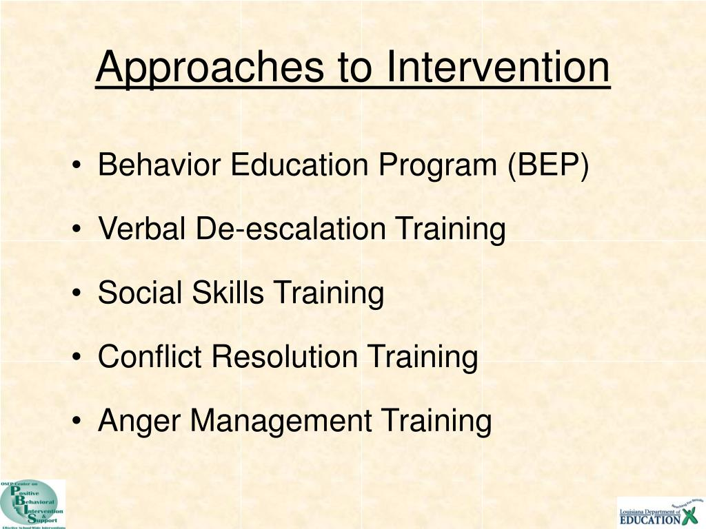 Approaches to Intervention