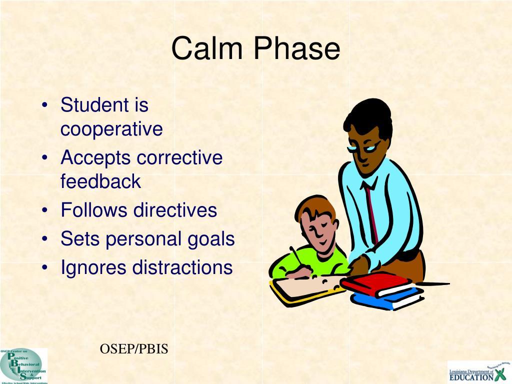 Student is cooperative