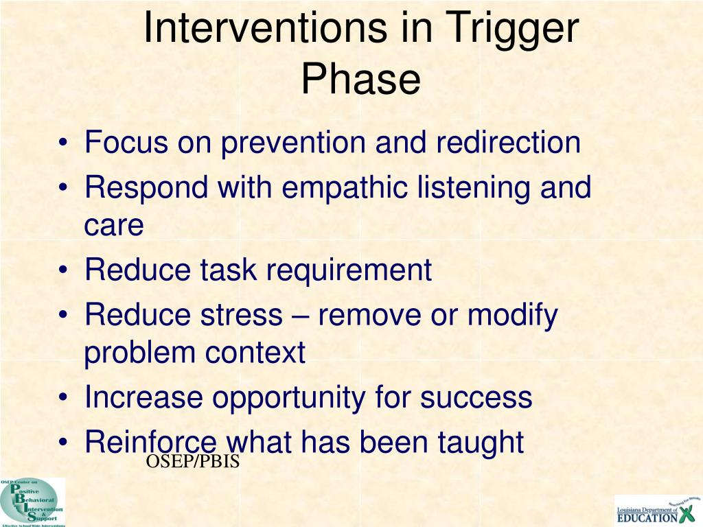 Interventions in Trigger Phase