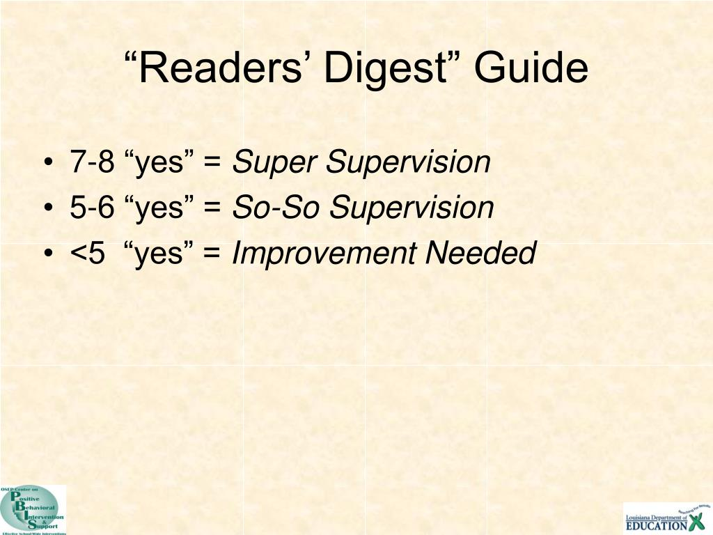 """Readers' Digest"" Guide"