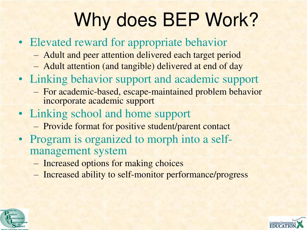 Why does BEP Work?