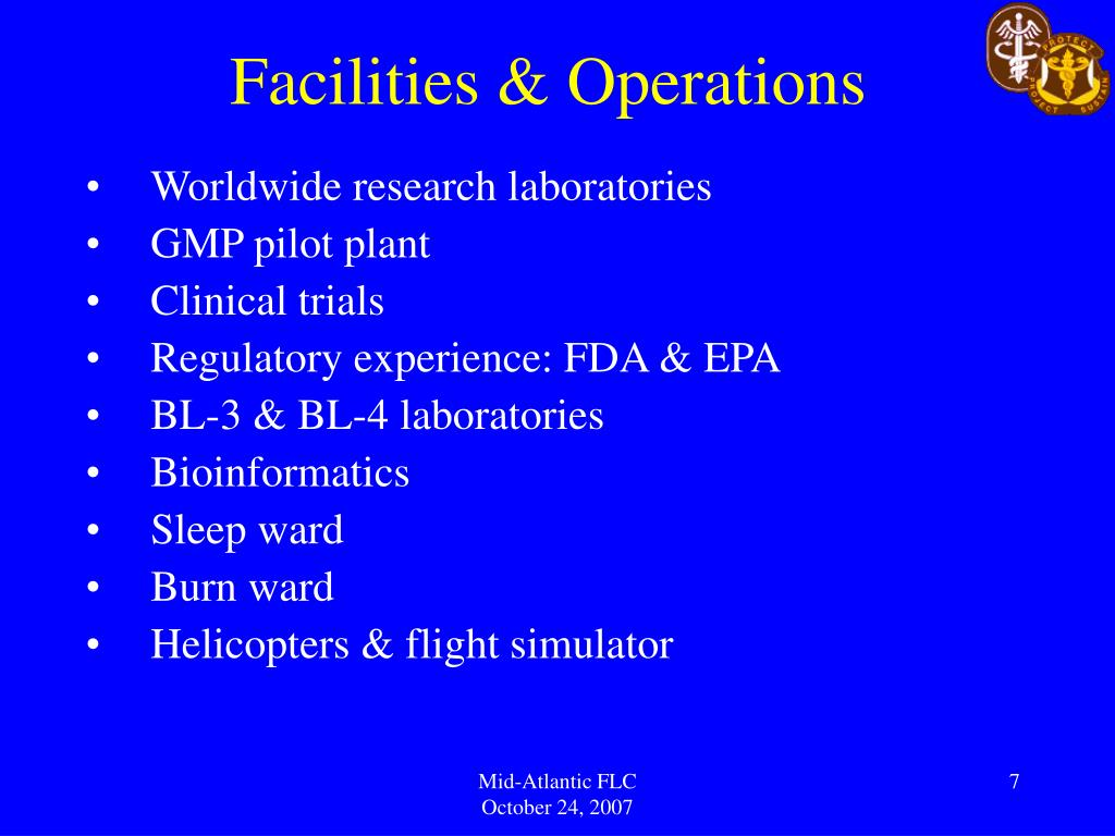 Facilities & Operations