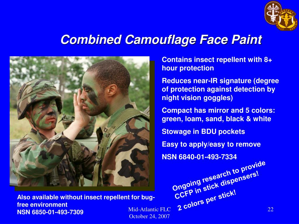 Combined Camouflage Face Paint