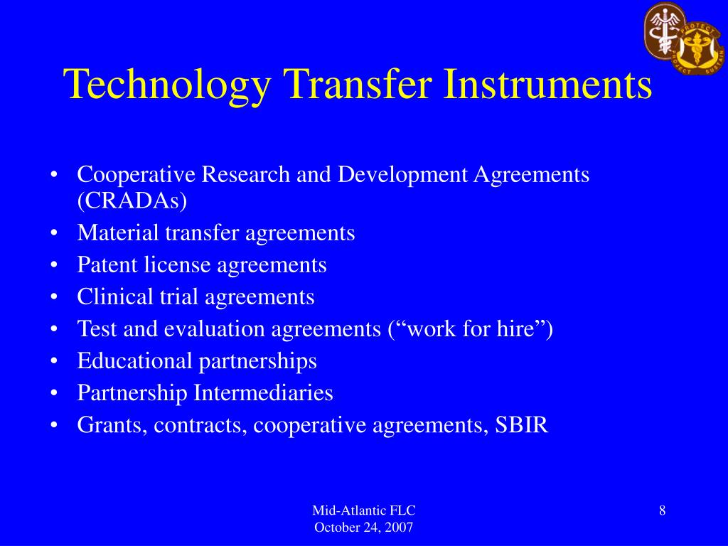 Technology Transfer Instruments