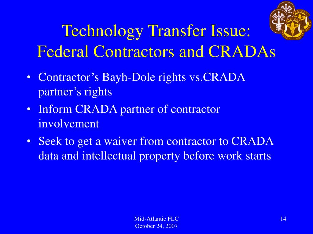 Technology Transfer Issue: