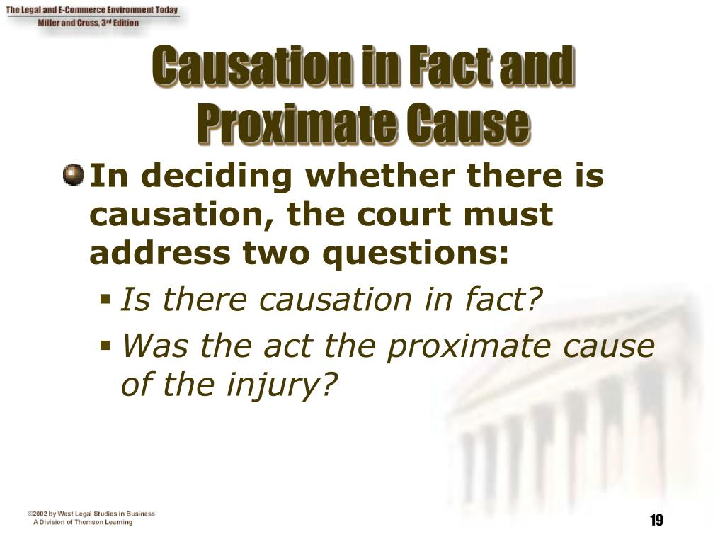 Causation in Fact and Proximate Cause