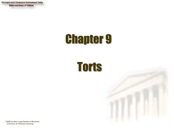 Chapter 9 torts