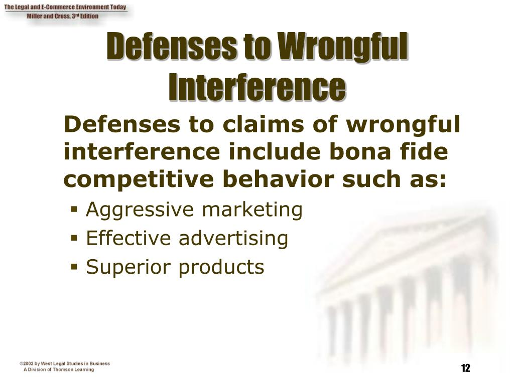 Defenses to Wrongful Interference