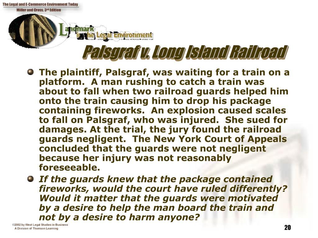 Palsgraf v. Long Island Railroad