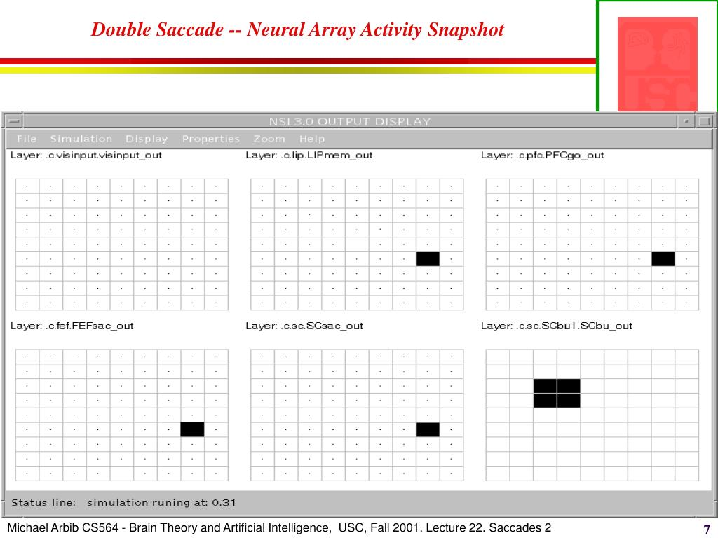 Double Saccade -- Neural Array Activity Snapshot