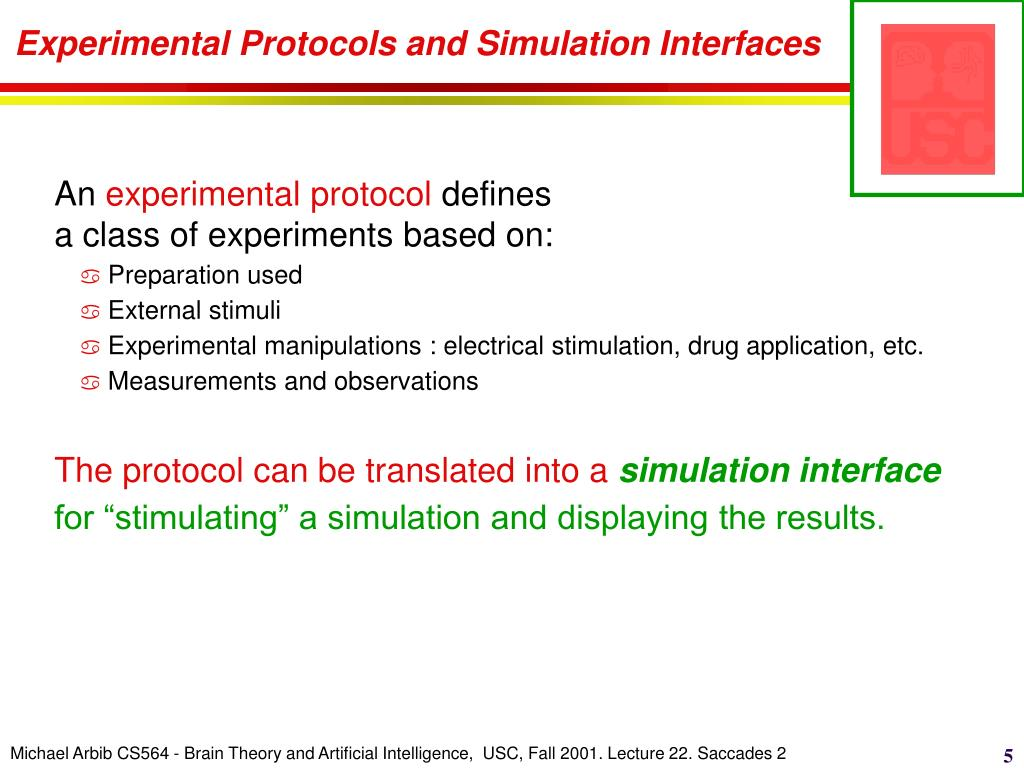 Experimental Protocols and Simulation Interfaces