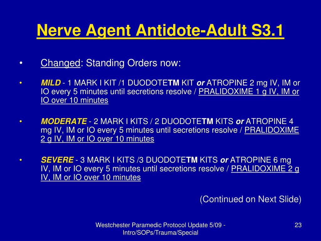 Nerve Agent Antidote-Adult S3.1