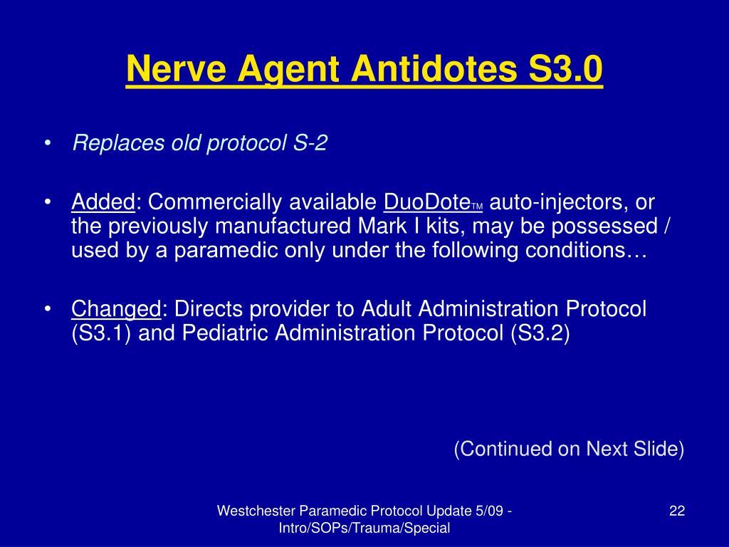 Nerve Agent Antidotes S3.0