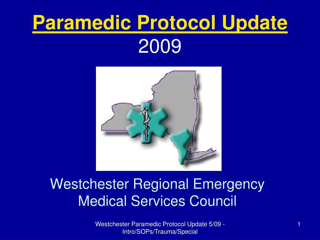 Paramedic Protocol Update