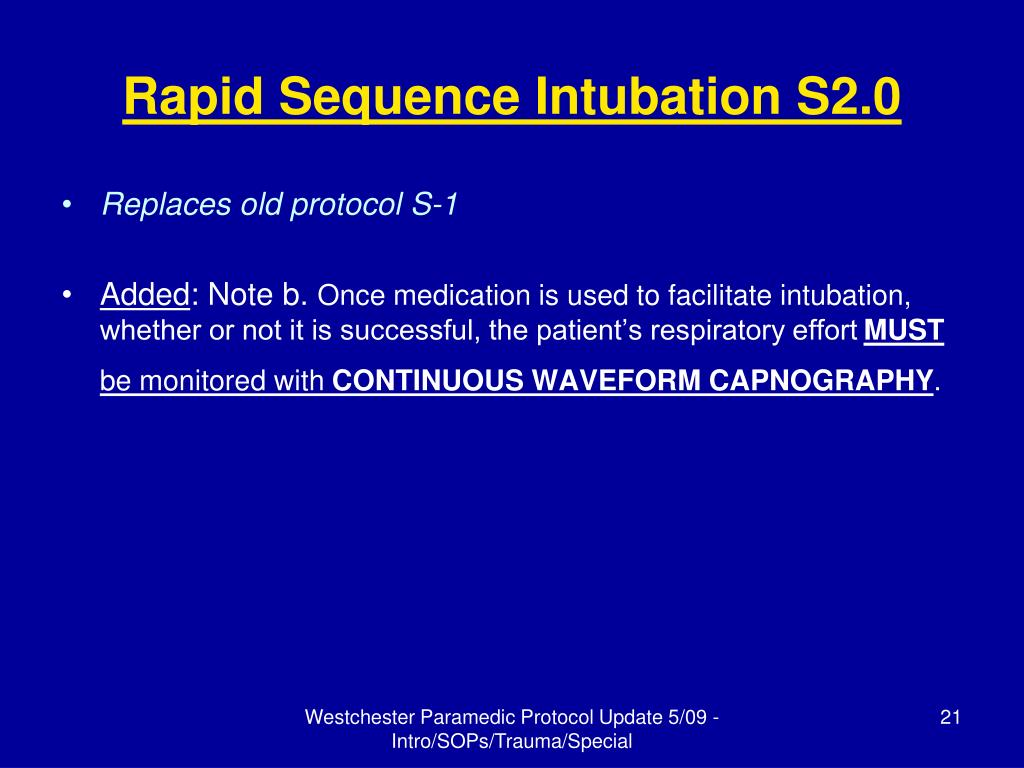 Rapid Sequence Intubation S2.0
