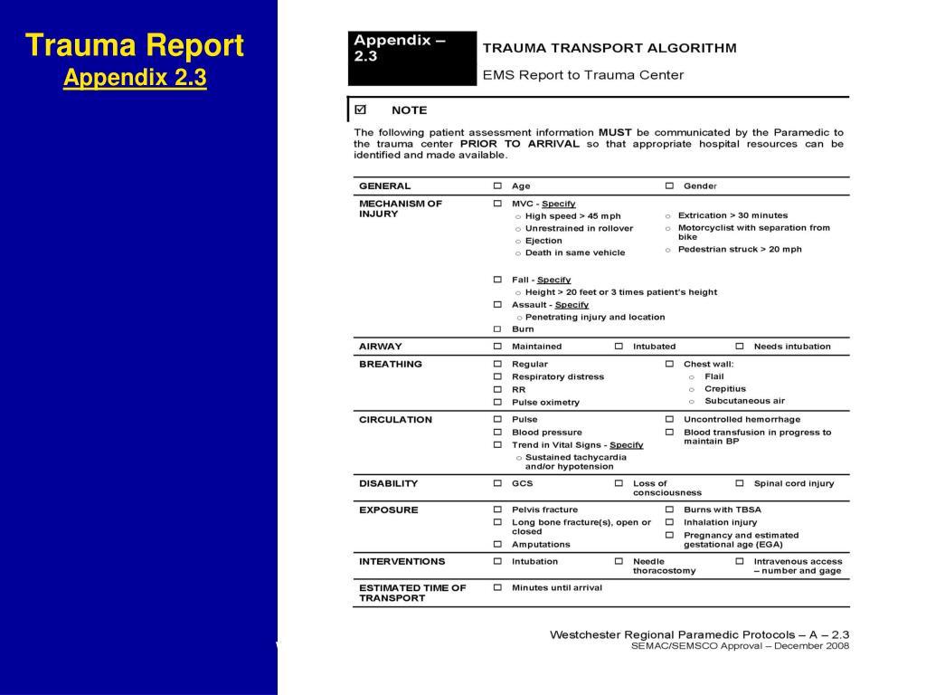 Trauma Report