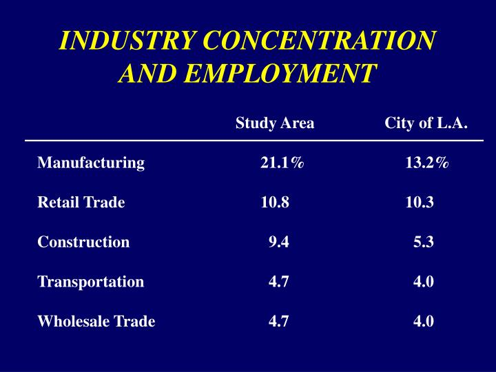 INDUSTRY CONCENTRATION