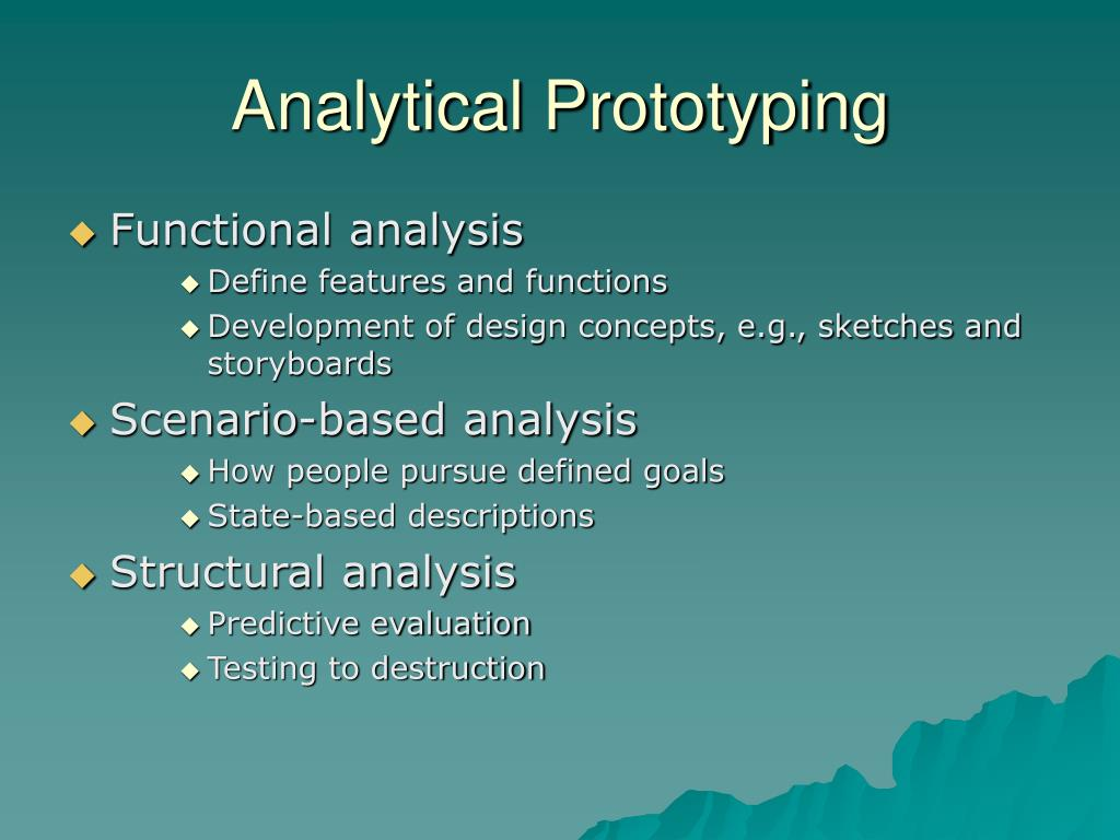 Analytical Prototyping