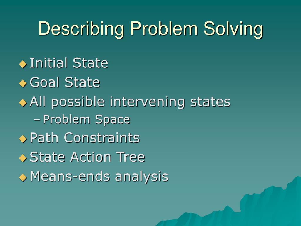 Describing Problem Solving