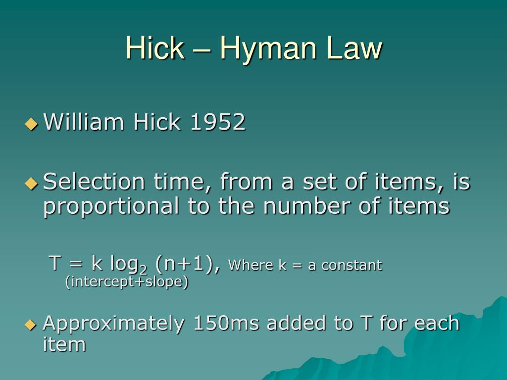 Hick – Hyman Law