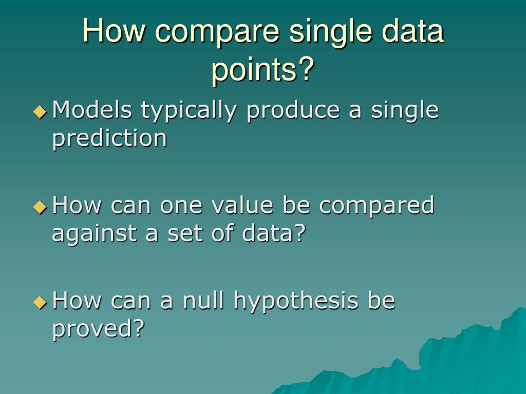 How compare single data points?