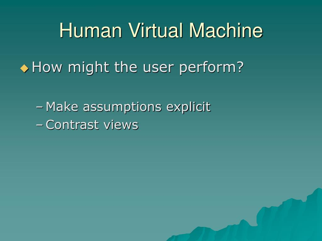 Human Virtual Machine