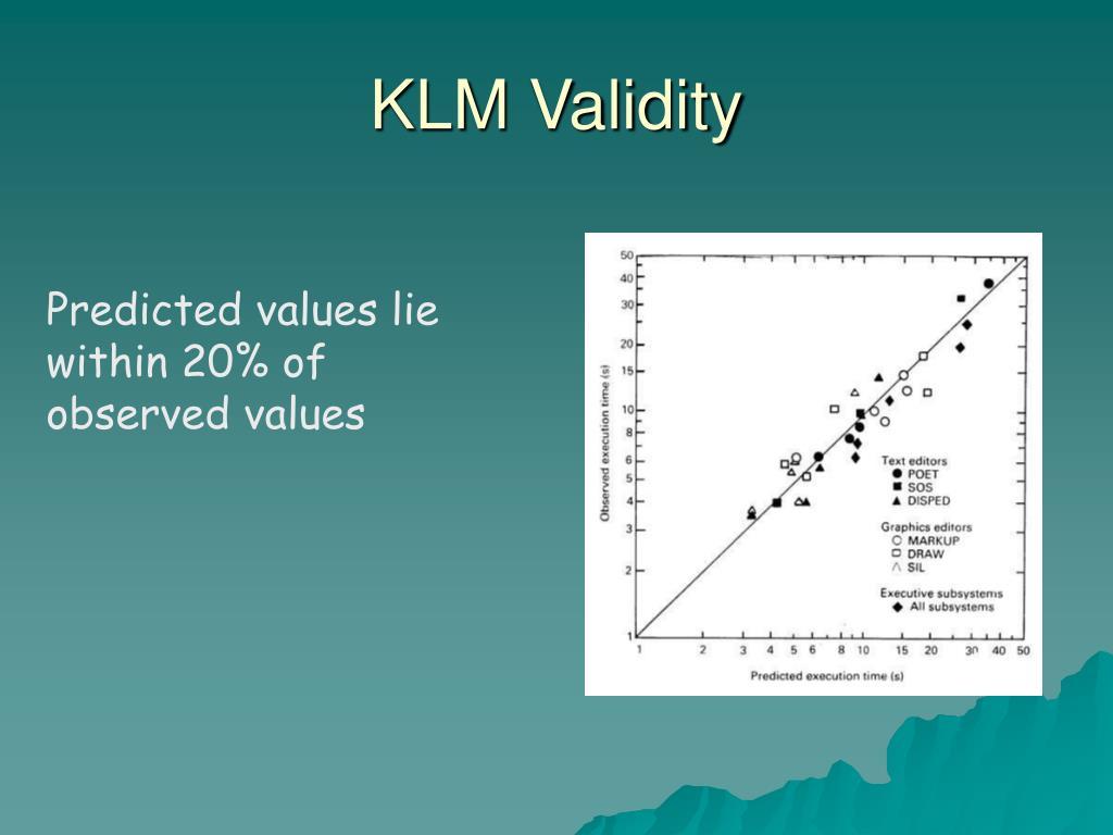 KLM Validity