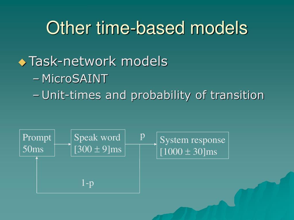 Other time-based models