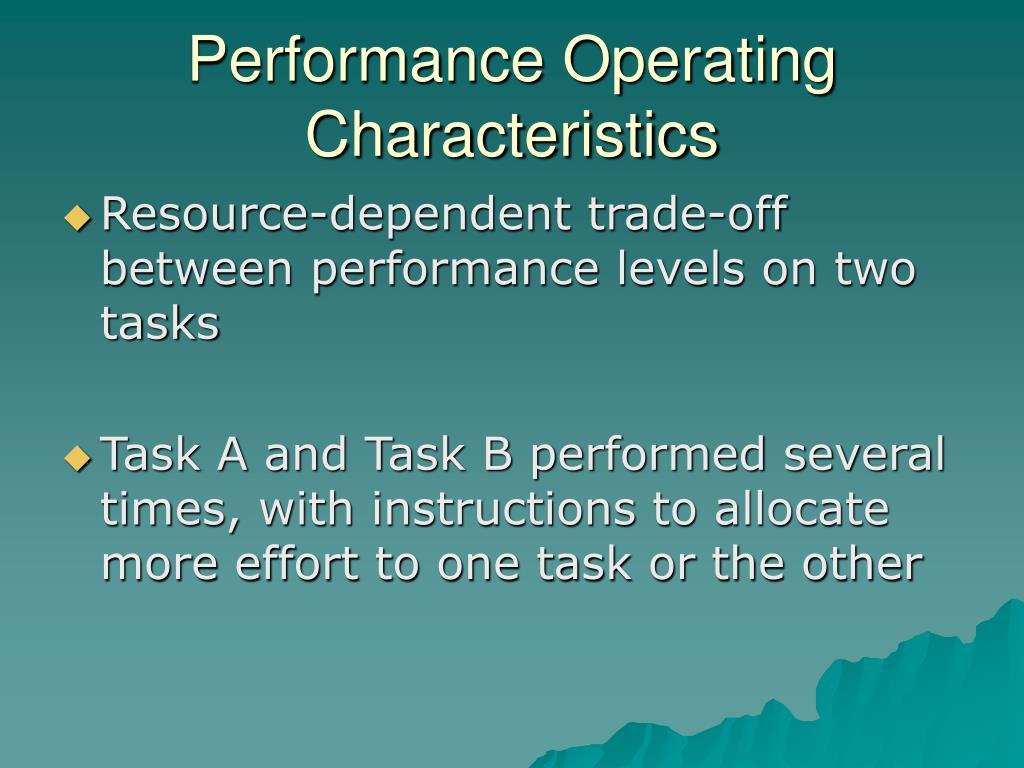 Performance Operating Characteristics