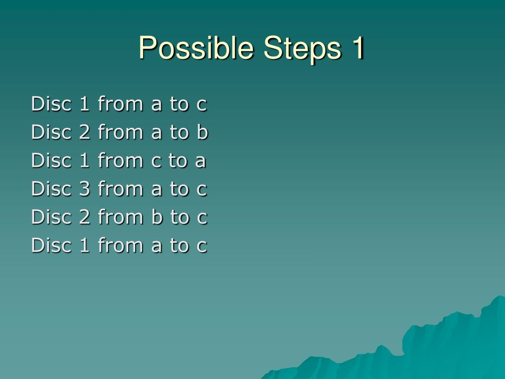 Possible Steps 1
