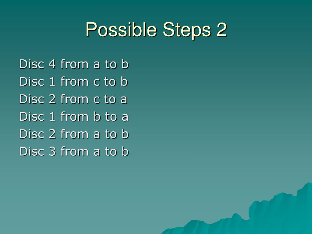 Possible Steps 2
