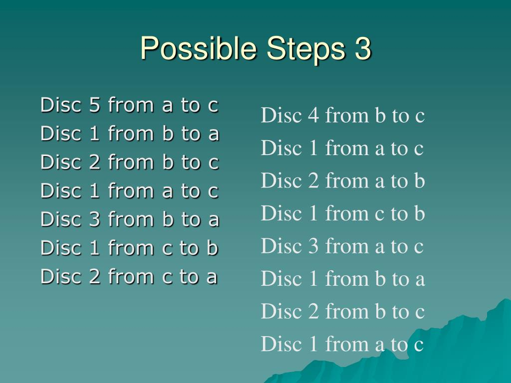 Possible Steps 3