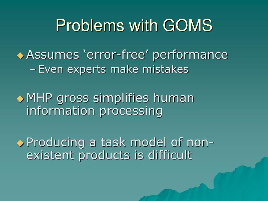 Problems with GOMS